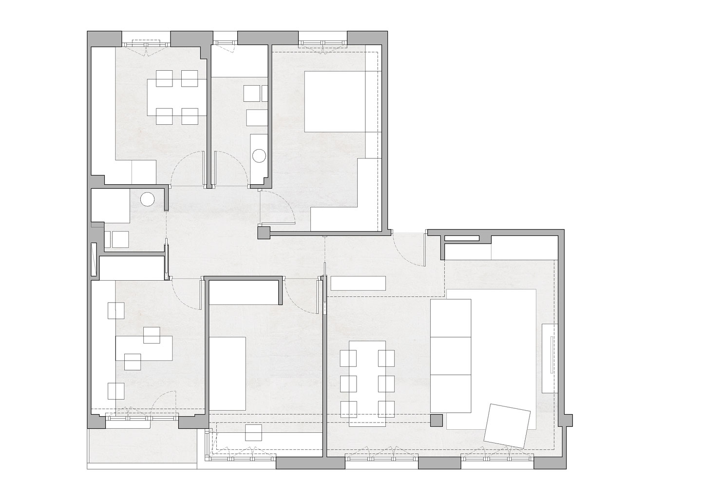 pisua berritzeko arkitektoaren planoa