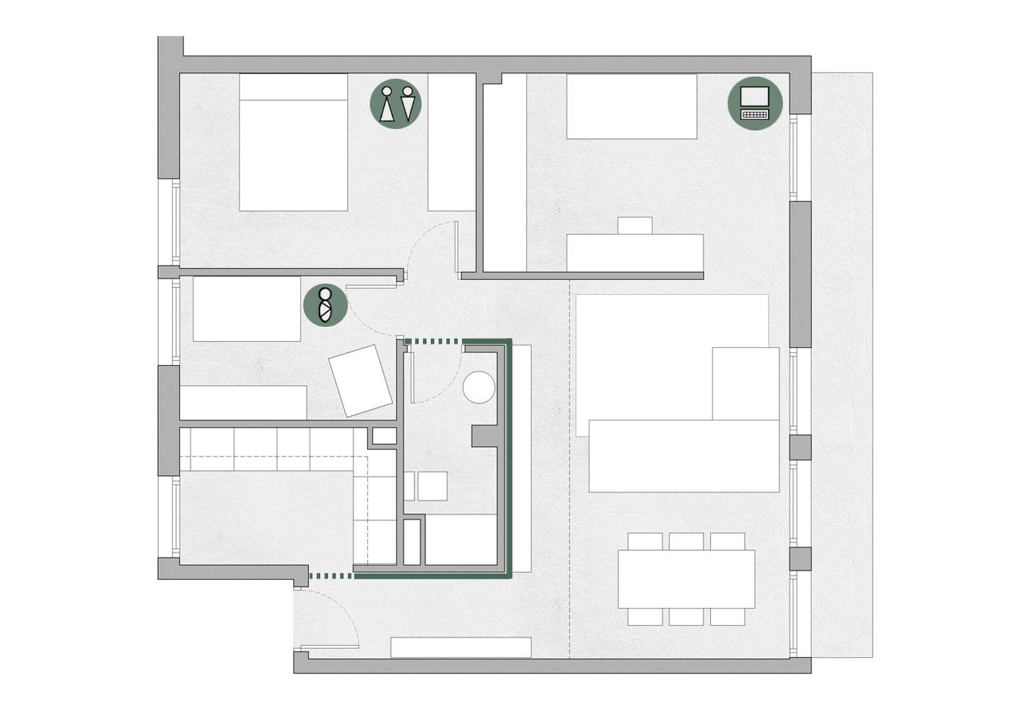 etxe erreforma planoa familia gasteiz arkitektoa